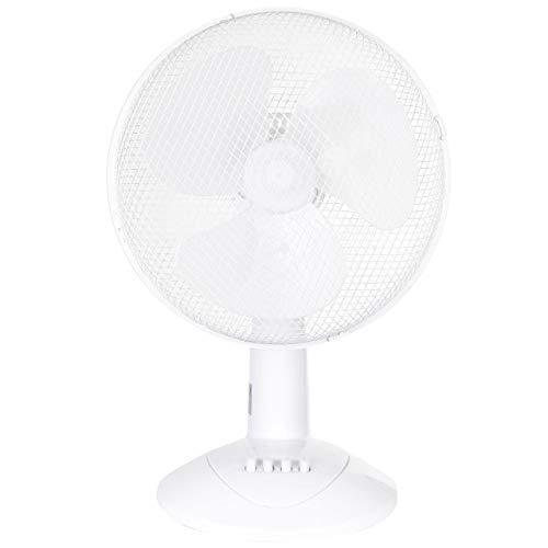 LEX XXL Tischventilator Premium Ventilator Windmaschine Ø30 cm, 3 Geschwindigkeiten, Leistung: 45 Watt Oszillation, 50cm Farbe:Weiß