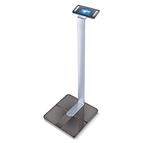 Beurer BF 1000 SuperPrecision Báscula diagnóstica, para el análisis de todo el cuerpo con app, medición del porcentaje de grasa visceral, visualización separada de cada parte del cuerpo
