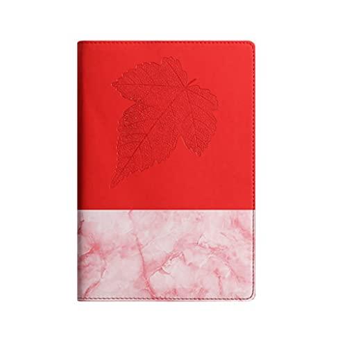 ZNZNN A5 PU Cuaderno Diario Portátil Retro Color A Juego Aula Oficina Reunión Registro Bloc De Notas Aprendizaje Papelería Regalo Cuaderno Multifuncional (Color : A Red)