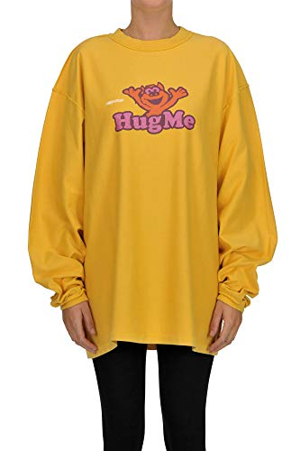 Vetements Hug Me Oversized Sweatshirt Woman Yellow S int.