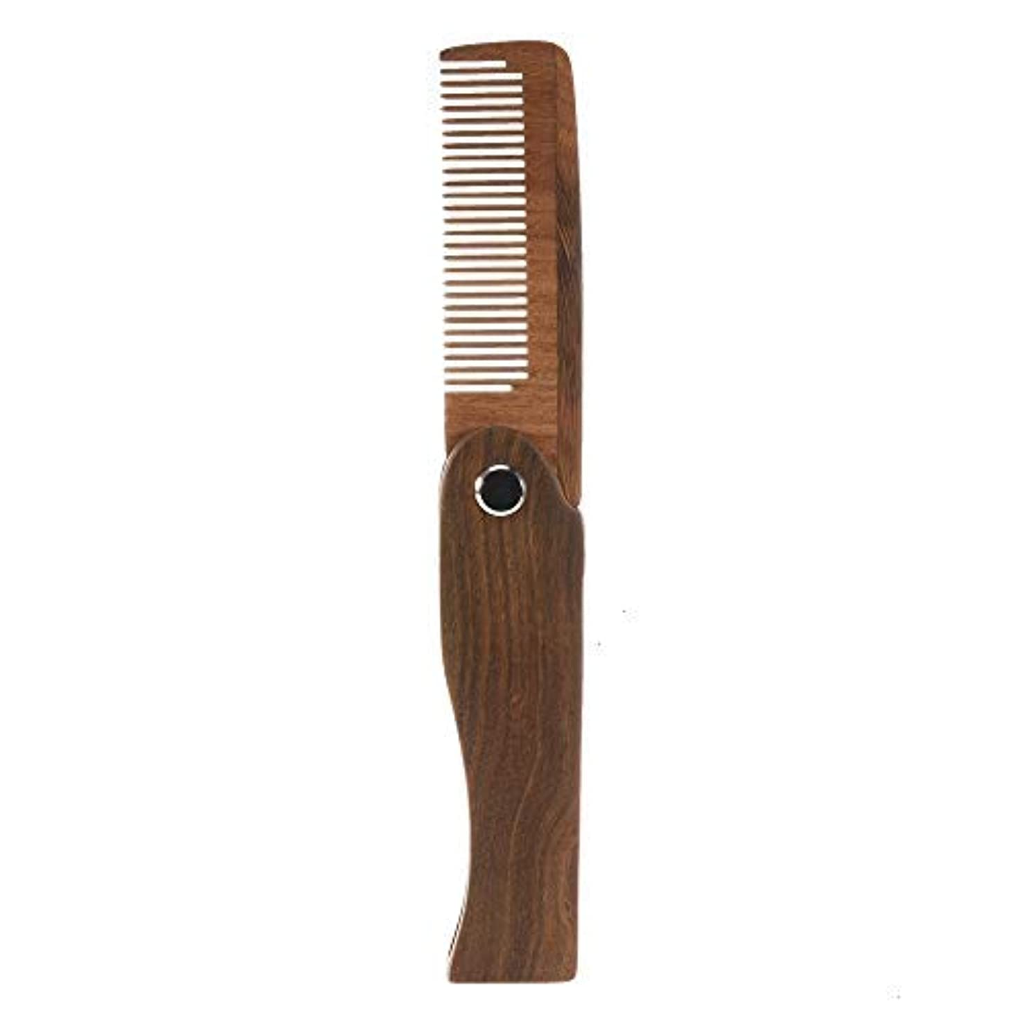 レベル乱用北へFeeko Folding Wooden Comb, 1 PC Pocket Size Hair Beard Fold Wooden Comb Durable Anti-Static Sandalwood Comb Every Day Grooming [並行輸入品]