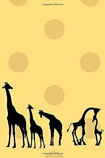 Silhouette Giraffes: A 6x9 Lines Notebook Journal