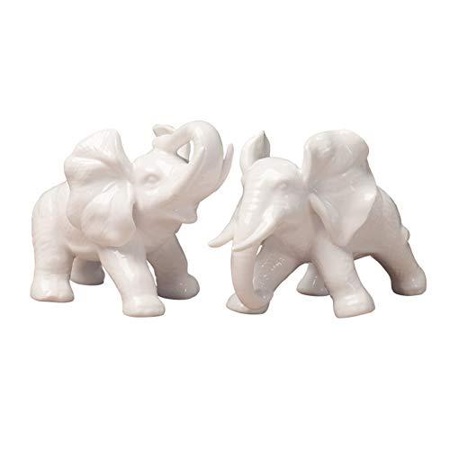 Decoración de Escritorio Decoración de elefantes Decoración para el hogar Elefante 1pair Elefante Estatua de vino Gabinete de vino Oficina de entrada para el hogar Regalo de boda Trae la suerte Feng S