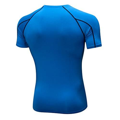 YCQUE Herren Top Solide Tägliches Workout Leggings Atmungsaktiv Bequeme Fitness Sport Laufen Yoga Athletic Shirt Top Bluse