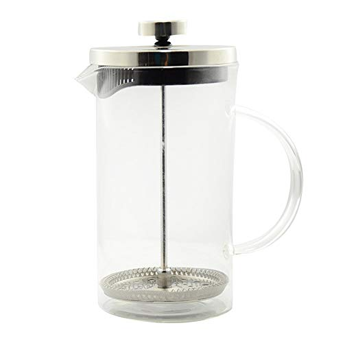 Vobajf Caffettiere a pistone Stainless Steel Coffee Pot French Press Teiera in Acciaio Inox tè e caffè 600ML cafetieres (Colore : Stainless Steel, Size : 600ml)