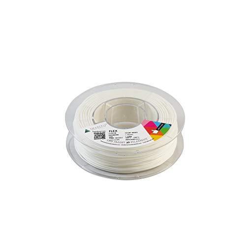 Smarfil FLEX, 1.75mm, Ivory White, 330g Filamento para Impresión 3D de Smart Materials 3D