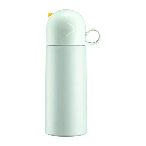 WEQRT Edelstahl-Isolierflasche Isolationstopf Nette Studentin Tragbare Tasse Literatur Einfache Edelstahlbecher 350Ml Grün