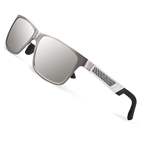 CGID GD60 Estilo clásico de aleación Al-Mg Caminante gafas de sol polarizadas UV400,gafas de sol para hombres
