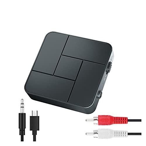 Adaptador de coche Bluetooth Transmisor de receptor de Bluetooth 5.0 de 2pcs 3.5mm AUXILIAR Jacobo RCA USB Adaptadores de audio inalámbricos Micrófono de llamada de manos libres para automóvil TV Tran