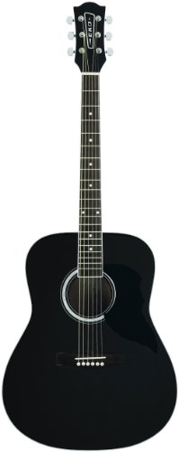 Eko Ranger 6 BLK chitarra acustica nera folk tavola in abete