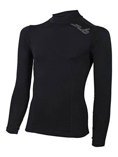 Sub Sports Fitted Cold Winter Kinder Thermo-Langarmshirt/Unterhemd mit Halbkragen, SY, Schwarz
