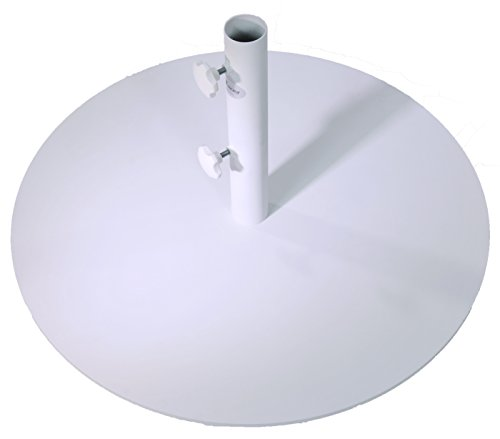 SORARA Rund Sonnenschirmstander Stahl | Weiß | Ø 70 cm | Mastdurchmesser Ø 48 mm | 25 kg