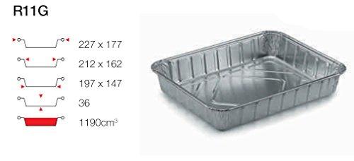 Contital Plateau en aluminium 4 Portions R11G 100 pcs