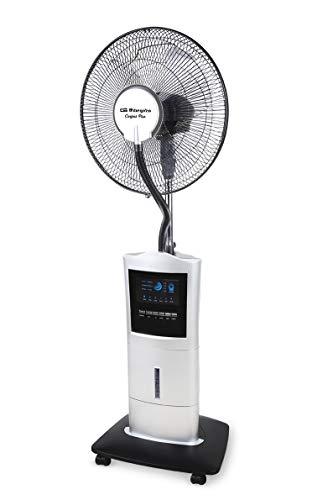 Orbegozo SFA 7000 – Ventilador nebulizador / humidificador con mando a distancia, depósito de 1.5 litros, temporizador, 3 velocidades y 100 W de potencia