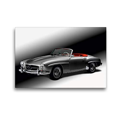 Premium Textil-Leinwand 45 x 30 cm Quer-Format Mercedes Benz 190 SL - Bj. 1954 | Wandbild, HD-Bild auf Keilrahmen, Fertigbild auf hochwertigem Vlies, Leinwanddruck von Wolf Kloss