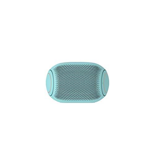 LG XBOOM Go PL2B Azul Celeste - Altavoz Bluetooth de 5W de Potencia con Sonido Meridian, autonomía 10 Horas, Bluetooth 5.0, protección IPX5, USB-C, comandos de Voz Google y Siri