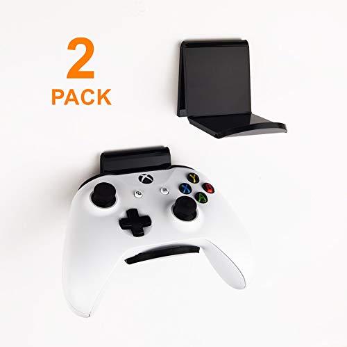 sciuU Wandhalterung für Kopfhörer / Controller, [2 Stück] Halter, Selbstklebende 3M Kleiderbügel, Universal Hook Zubehör für Gamepad auf XBox / PS4 / Nintendo, ohne Schrauben - Schwarz * 2