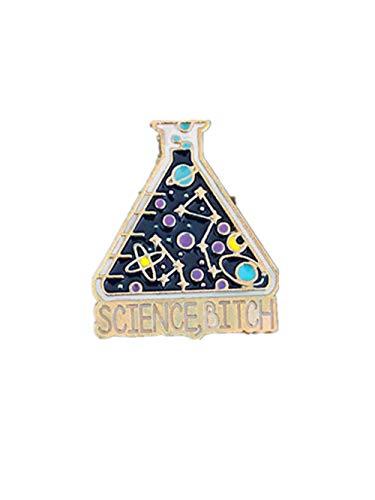Taza de experimento químico de dibujos animados, broche de esmalte, insignia de laboratorio, alfileres, joyería, accesorios de moda, regalos