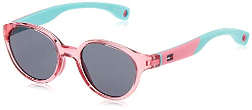 Tommy Hilfiger Unisex-Kinder TH 1424/S BN Y89 43 Sonnenbrille, Pink (Pink Aqua/Grey)