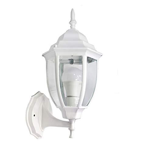 Vetrineinrete® Lanterna da giardino stile retrò lampada a parete antica applique a muro...