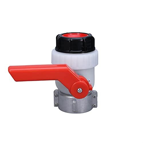 JQDMBH Grifos para Equipo de riego Válvula de Bola de 62 mm 1000l Válvula de válvula de Hilo de Agua y válvula de Bola de Barril de tonelada Resistente al alcalino