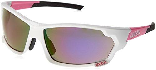 Uvex Erwachsene Sportstyle 703 Sportsonnenbrille, White Pink/Lens Mirror, One Size
