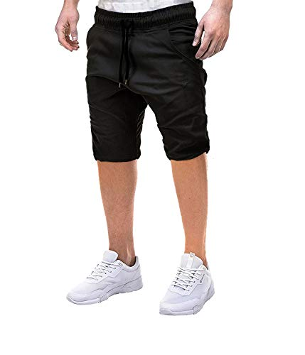 KangJiaoNanG Heren Shorts Enkel Actieve Tether gesloten revers effen kleur casual shorts Stretchy Wasbare Knopen