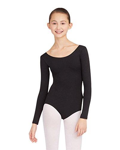 Capezio Women's Long Sleeve Leotard,Black,Medium