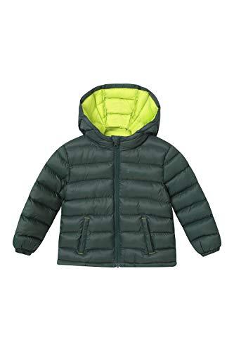 Mountain Warehouse Baby Seasons wattierte Jacke – Wasserabweisende Regenjacke für Kinder, Mikrofaser-Wattierung, Kapuzenjacke – ideal für Outdoor und Reisen Khaki 12-18 Monate