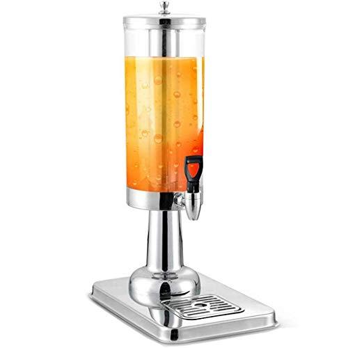 LLAMN Getränkeautomat, Gewerbe Edelstahl Dispenser - Schnelle Kühlung Getränkeautomat - Metallbasis und Leaky-Hahn, Transparent (Size : 3L)