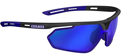 Salice 018rw zonnebril unisex volwassenen, zwart/blauw
