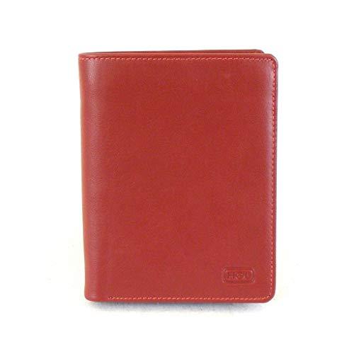 HGL Damen Geldbörse Hochformat echt Leder rot 14193 Kreditkartenfach RV-Fach