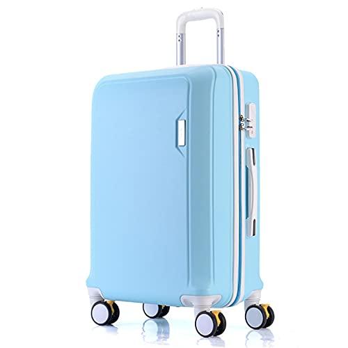 Valigia trolley in materiale ABS nero, rosso, elegante argento, verde menta, elegante blu, viola chiaro, rosa, oro rosa, 20', 22', 24', 26', 26', Azzurro (Blu) - GYTF612551263