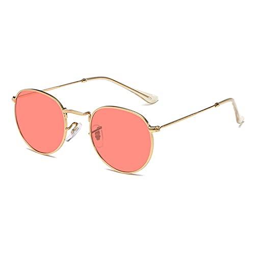 LUOXUEFEI Gafas De Sol Gafas De Sol Para Hombre Gafas De Sol De Espejo Azul Dorado Para Mujer