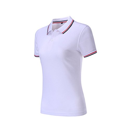 ZKOO Mujer Polos Camisas de Polo Algodón Manga Corta de la Solapa Poloshirts tee-Shirt Blusa Tops Slim Fit...