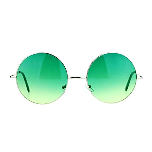 SA106 Hippie Retro Groovy gradiente Oversize círculo lente redonda gafas de sol Lennon