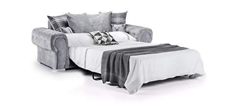 Honeypot - Verona Grey Fabric Corner Sofa - 3 Seater - 2 Seater - Armchair - Footstool (Sofabed, Grey)