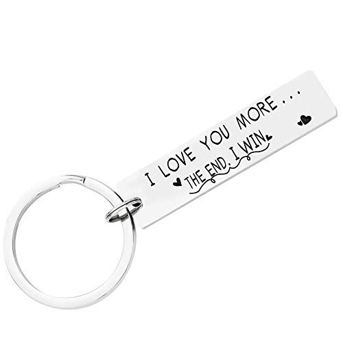 "(50% OFF) ""I Love You More…The End I Win"" Keychain $4.50 Deal"