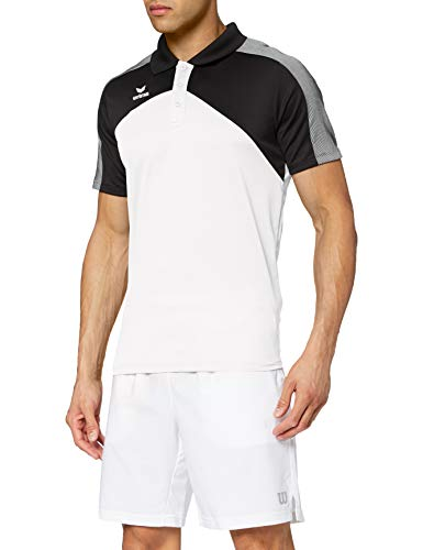 Erima 1111811 Polo Femme Blanc/Noir/Blanc FR : XS (Taille Fabricant : 34)