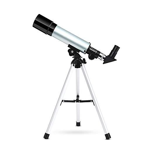 LYHY Telescopio astronómico Zoom 90X HD Telescopios espaciales monoculares al Aire Libre Refractor portátil con trípode para niños Principiantes