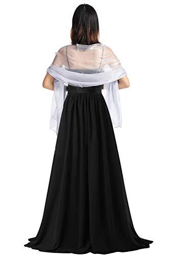 YAOMEI Mujer Bufanda Chales Estolas Satén, Mujer Verano Mantón Estolas Fulares Bufanda Pañuelo bodas nupcial bridemaids Ropa de noche partido (70 * 28 pulgadas (170cm * 70cm), Plata)
