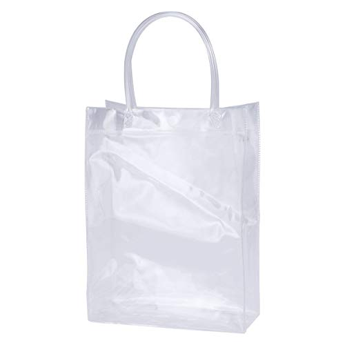 Yardwe Bolsa de Hielo con Asas de PVC Transparente para Enfriar Botellas de Vino Cerveza y Champán (20 * 7 * 25cm)
