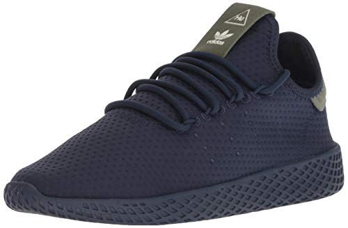 adidas Originals Unisex-Kid's PW Tennis HU Running Shoe, Collegiate Navy/Collegiate Navy/Off White, 7 M US Big Kid
