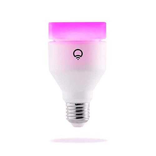 LIFX Bombilla de Luz LED Inteligente Wi-Fi, Ajustable, Regulable, no Requiere Concentrador E27, 11 W, Multicolor, Paquete de 1
