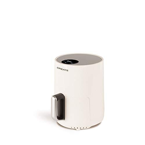 IKOHS Create Fryer Air -Freidora sin Aceite, de Aire sin Aceite, Capacidad 1,5 l, 900W, Cesta Antiadherente, selector de Temperatura 80-200°, Apagado automático, Libre de BPA, Programable, Blanco