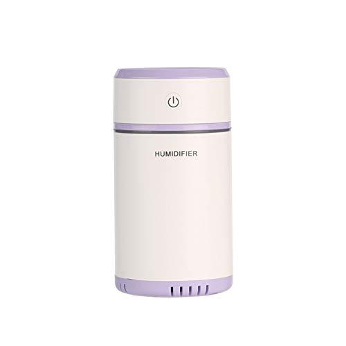 Sencillo y Elegante Mini humidificador humidificador USB Humidificador de Oficina Humidificador de Tirar del Coche (Color : Púrpura)