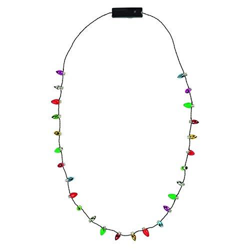 SODIAL LED Leuchten Weihnachten Birne Halskette, Perfekt für Party, Feier, Urlaub, Bar