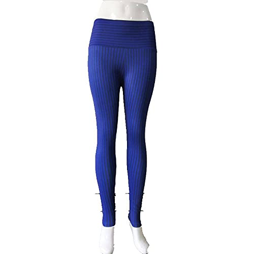 Leggings Cintura Alta Para Mujer,Leggings De Yoga De Cintura Alta Para Mujer, Mallas De Entrenamiento, Estampado De Rayas, Azul Opaco, Leggings De Yoga, Ropa De Gimnasia Para Gimnasia, Pilates, Ejer
