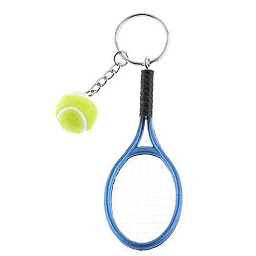 1 PC-Mini-Tennis-Schläger Keychain Schlüsselring Netter Sport-Charme-Tennisball-Schlüsselanhänger Auto-Beutel-Anhänger Schlüsselanhänger Geschenk