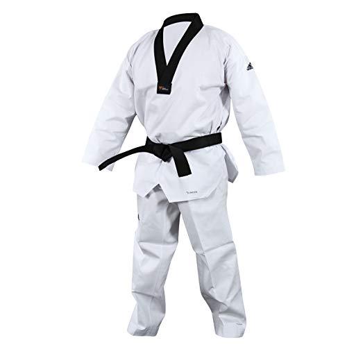 Adidas Adichampion II - Dobok de taekwondo, color negro blanco blanco Talla:160